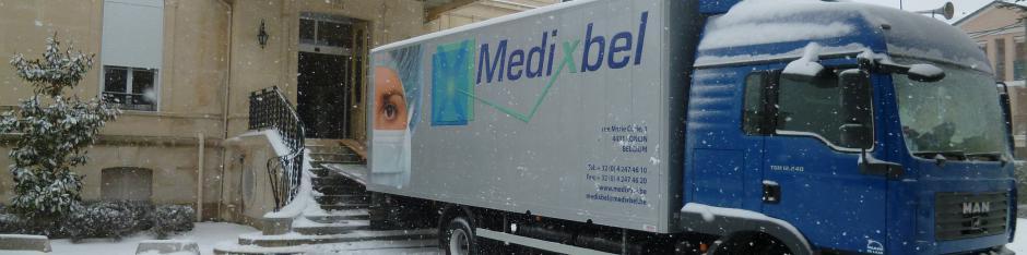 Déchargement de matériel Medixbel